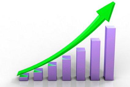 gráfica de nuestro dinero de apuestas en positivo