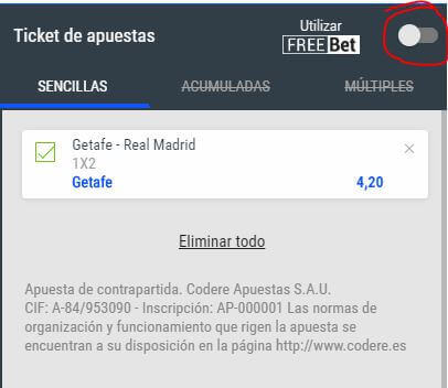 freebets codere apuestas