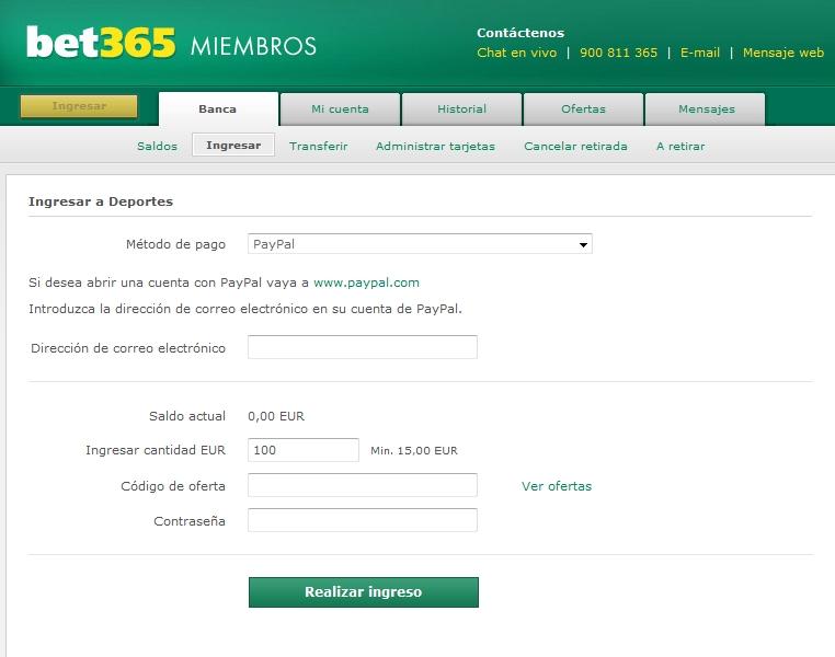 formulario código oferta bet364