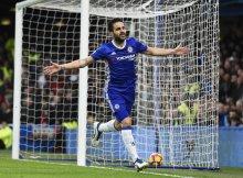 Cesc con el Chelsea celebra un golazo