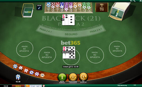 mesa de blackjack en bet365