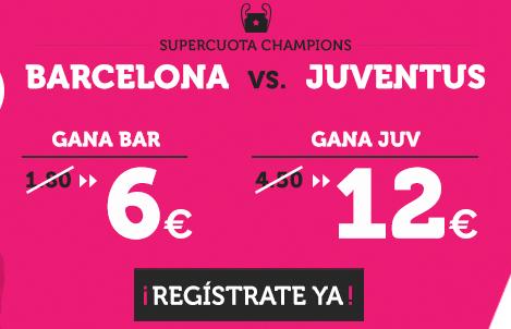 supercuotas wanabet barcelona juventus