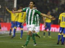 Celebracion del Betis del gol contra Las Palmas