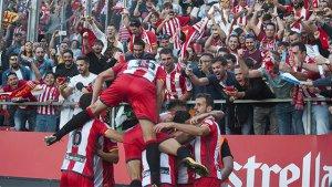 El Girona busca una nueva victoria ante el Madrid.