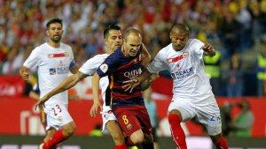 El Sevilla debe presionar la sala de maquinas del Barsa.