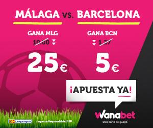 supercuota  wanabet malaga barcelona