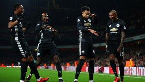 El Manchester United en gran momento de juego.