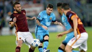 Messi, la gran baza ofensiva del Barsa.