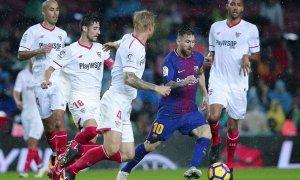 El primer objetivo del Sevilla será parar a Messi.
