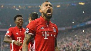 La baja de Vidal es fundamental para el Bayern.