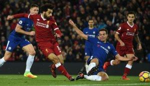 Salah, la gran estrella del Liverpool.