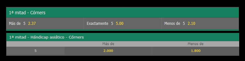 asiatico vs handicap normal en corners