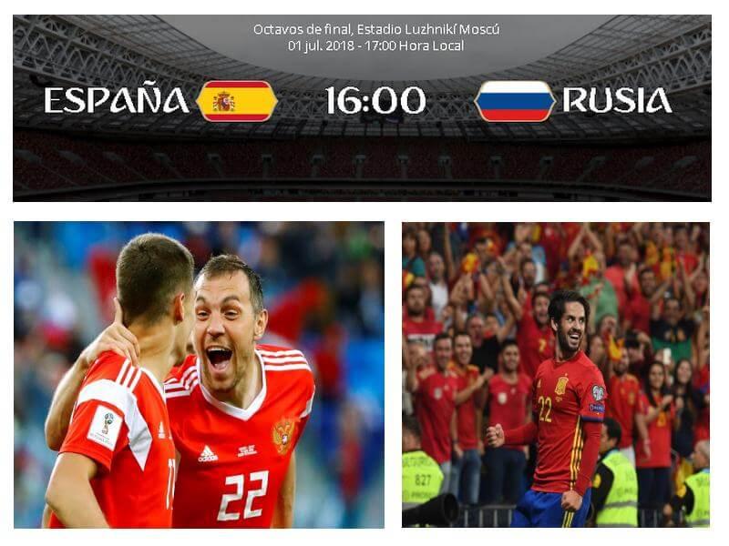 espana rusia octavos mundial 2018