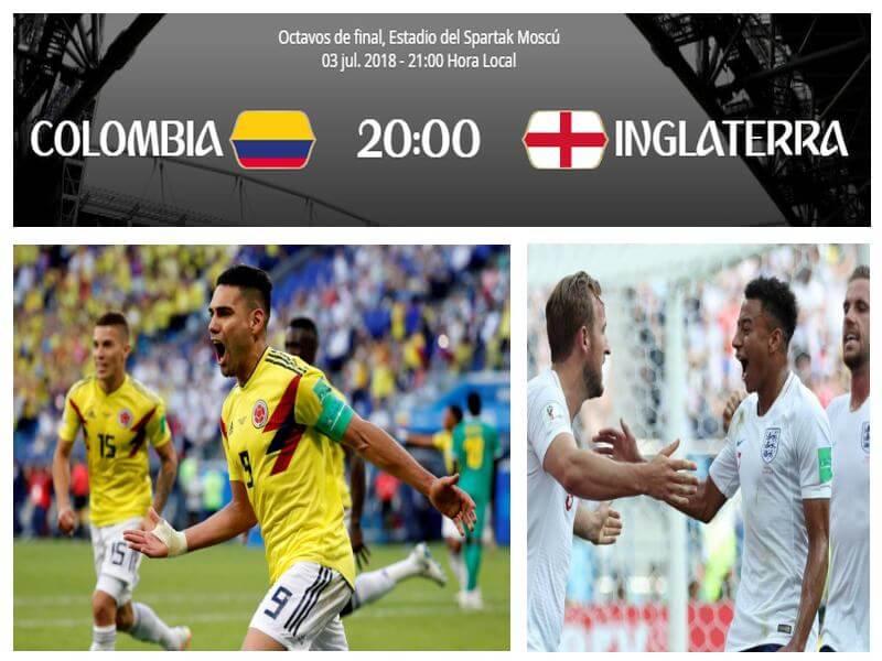 colombia inglaterra mundial 2018