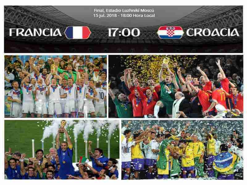 pronostico francia croacia final mundial 2018
