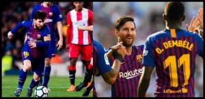 Messi y Dembelé, en un gran estado de forma.