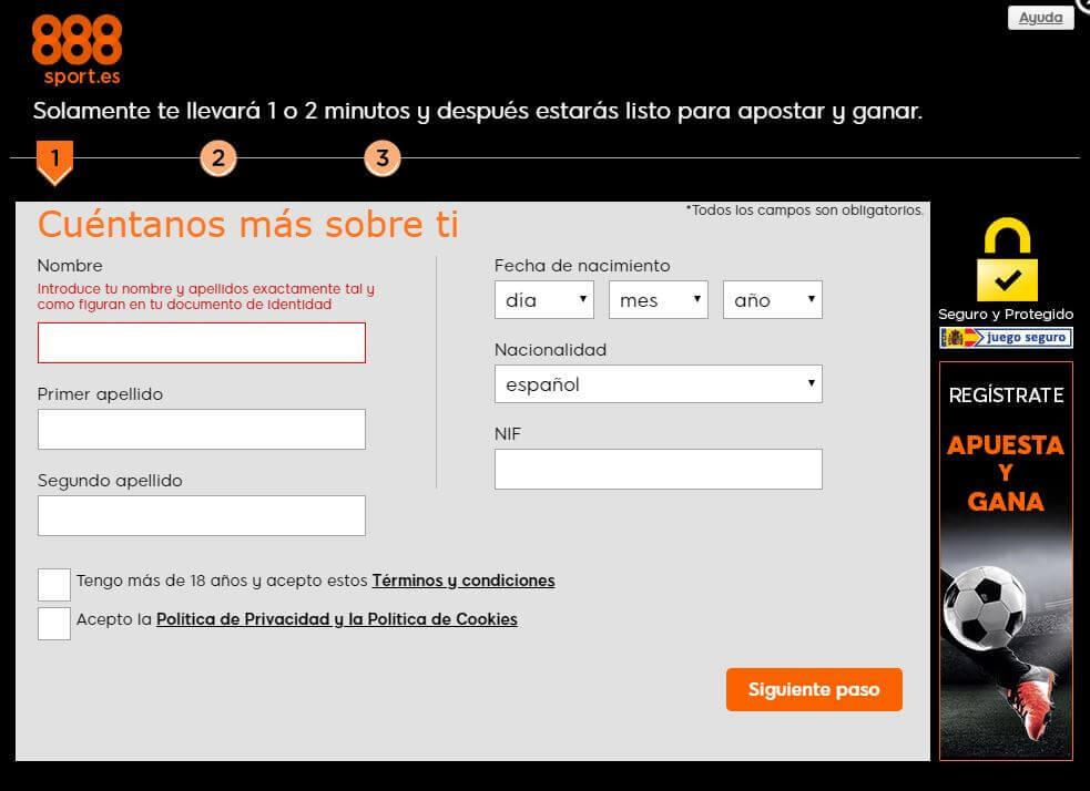 888sport formulario de alta