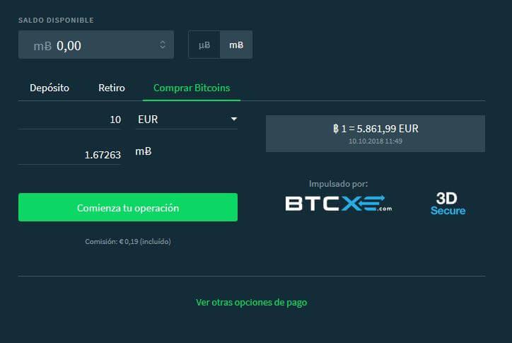 depositar bitcoins casa de apuestas