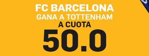 supercuota en betfair para pronósticos del barcelona vs tottenham