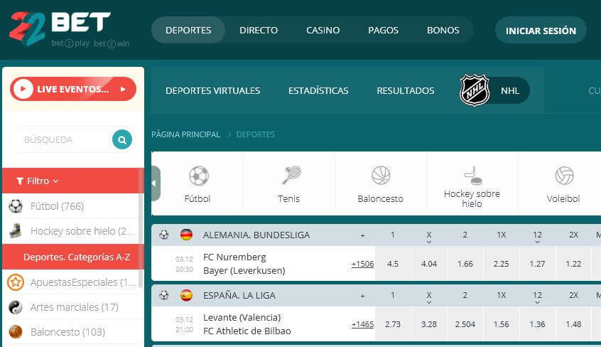 codigo websites 22bet