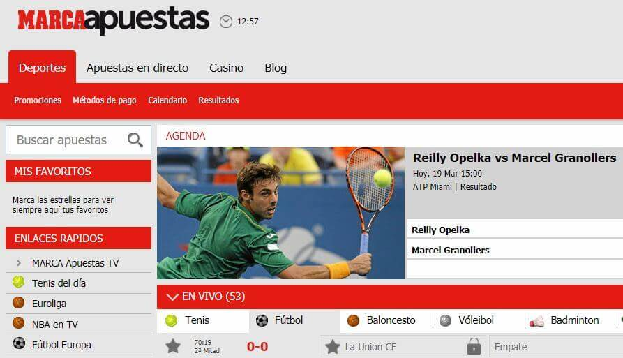 website marca apuestas