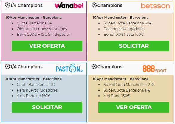 manchester barcelona ofertas de las casas de apuestas