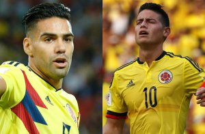 Falcao y James Rodríguez. En ellos recae el peso de la selección colombiana