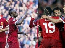 El tridente del Liverpool sigue arrasando
