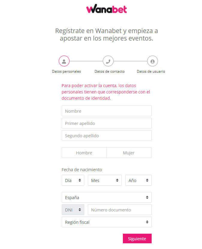 formulario registro wanabet