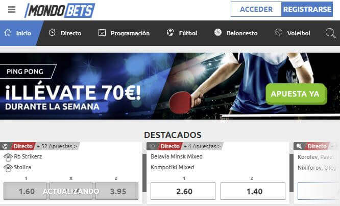 mondobets website