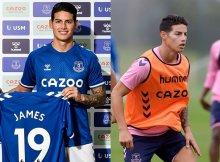 James Rodriguez ilusiona a la afición del Everton