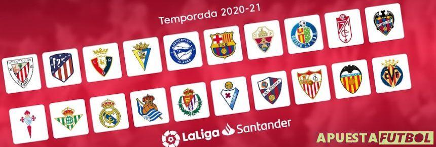 Equipos Liga Santander 20 21