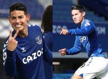 El Everton con James a la cabeza, defiende liderato