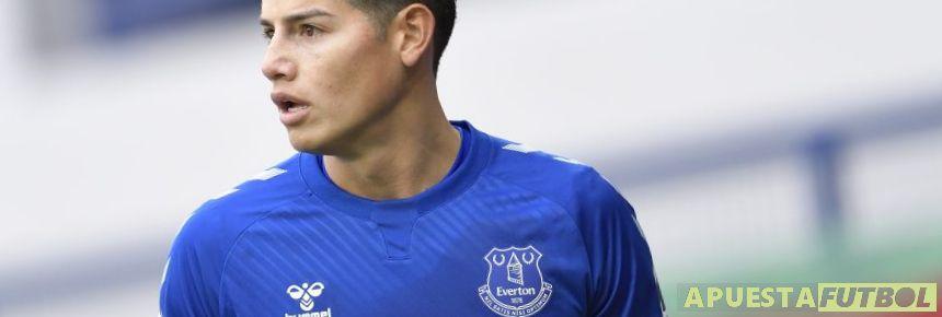 James Rodriguez jugador del Everton en la Premier League