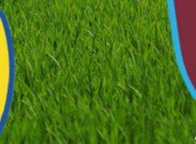 Cartel del partido de Premier entre Leeds United y West Ham