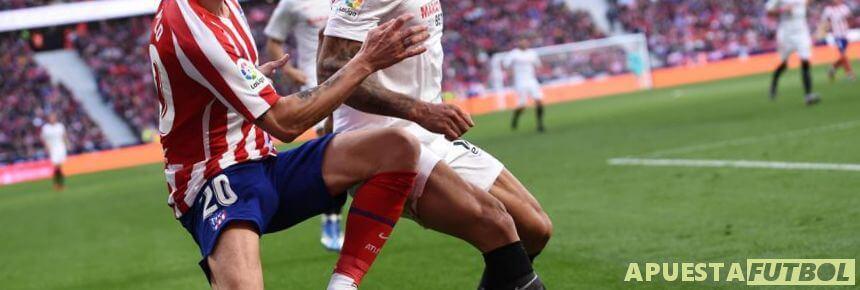 Partido de Liga Santander entre Atlético de Madrid y Sevilla CF