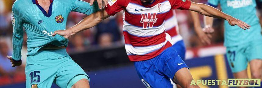 Enfrentamiento de Granada y Barcelona en la Liga Santander