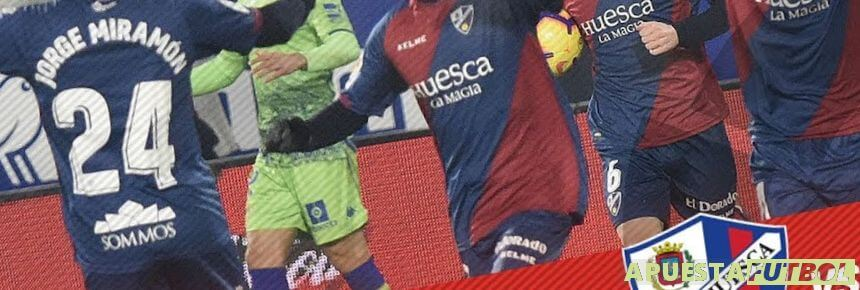 Partido de liga santander entre Huesca y Betis antes del descenso de los aragoneses