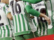 Celebrando un gol del Real Betis en la Liga Santander
