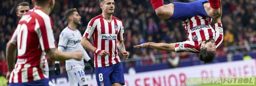 Partido de Liga Santander entre Atlético de Madrid y Levante