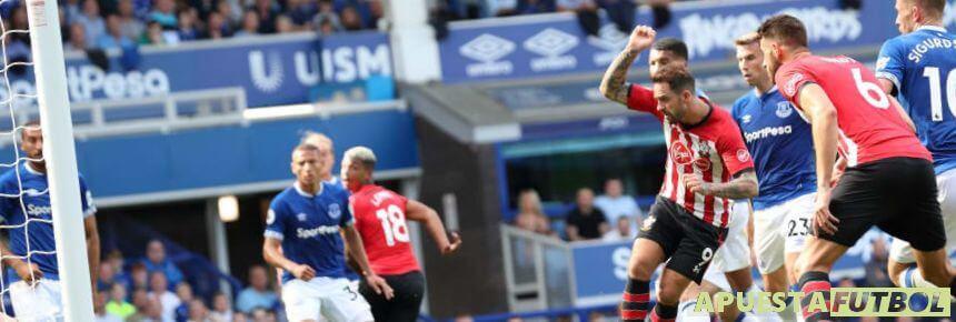 Everton vs Southampton en la Premier League 2019/20