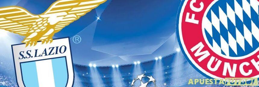 Cartel del Partido de Champions entre Lazio y Bayern Munich