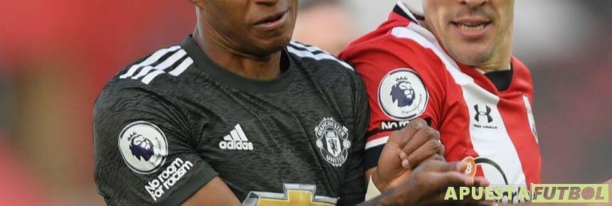 Manchester United vs Southampton en un partido de Premier League
