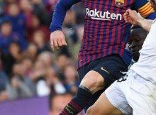 Barcelona y Getafe en un partido de Liga en el Camp Nou