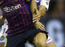 Barcelona vs Real Valladolid de la Liga Santander