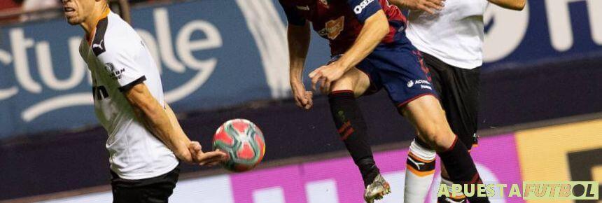 Partido de hace dos temporadas entre Osasuna y Valencia