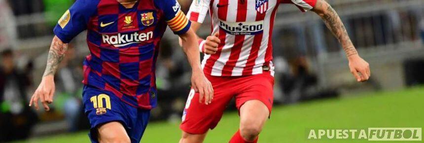 Partido de Liga Santander entre Atlético de Madrid y Barcelona