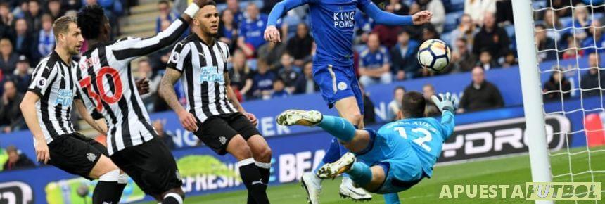 Leicester vs Newcastle en un partido anterior de la Premier League