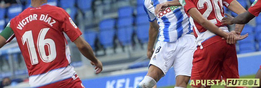 Partido de la temporada pasada entre Granada y Real Sociedad